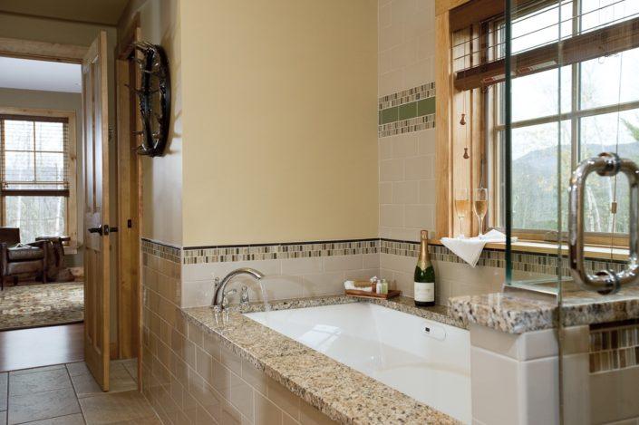 Master bath Campion Trailside Cottage Mountain Top Inn & Resort Chittenden, Vt.