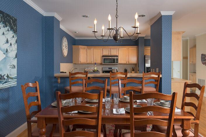Townhouse dining area & kitchen Green Mountain Inn, Stowe, Vt